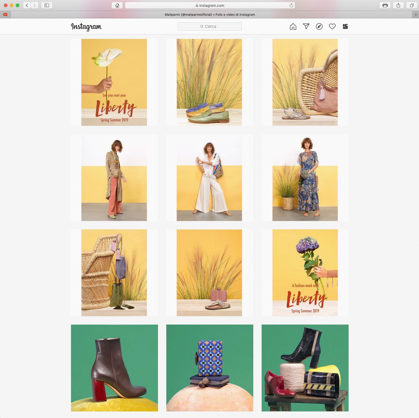 Foto per Instagram Social MALIPARMI - MC Studios - Fashion E-commerce